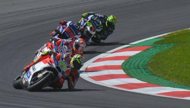 Iannone durante el Gran Premio de Austria