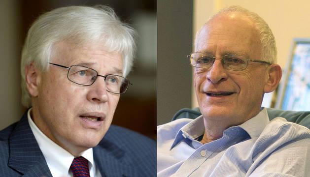 Los ganadores del Nobel de Economía 2016.