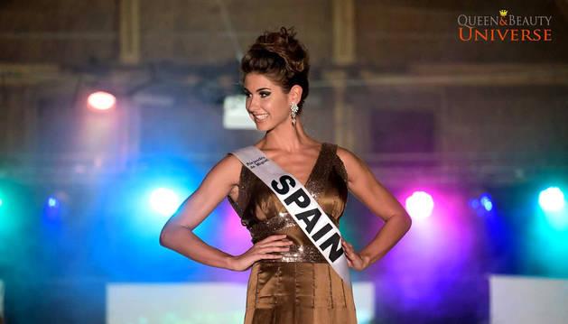La pamplona Marta Olaz, durante el concurso.
