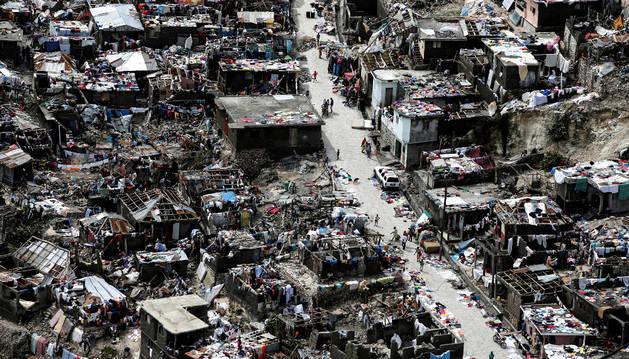 Casas destrozadas tras el paso del huracán Matthew por la ciudad de Jérémie, en Haití.