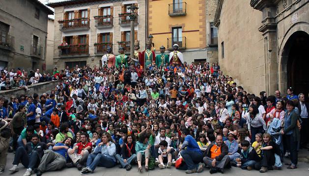 Encuentro de los scouts católicos de Navarra.