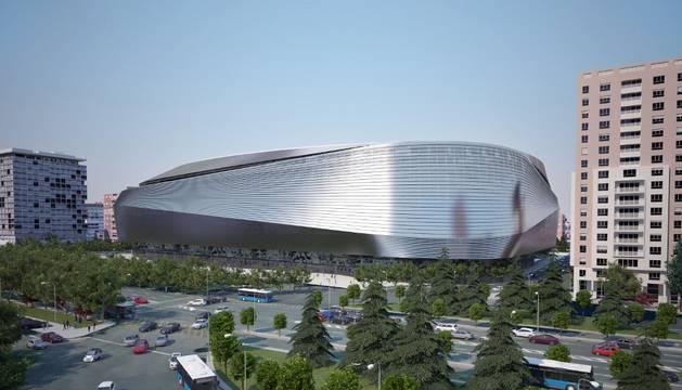 Aspecto que presentará el Santiago Bernabéu una vez terminadas las obras de remodelación