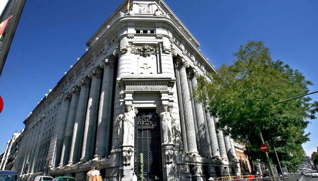Vista exterior de la sede del Instituto Cervantes en Madrid.