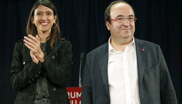 Imagen de Parlon e Iceta, candidatos a las primarias del PSC.