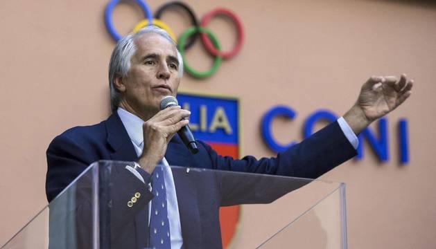 El presidente del Comité Olímpico Italiano (CONI), Giovanni Malago.