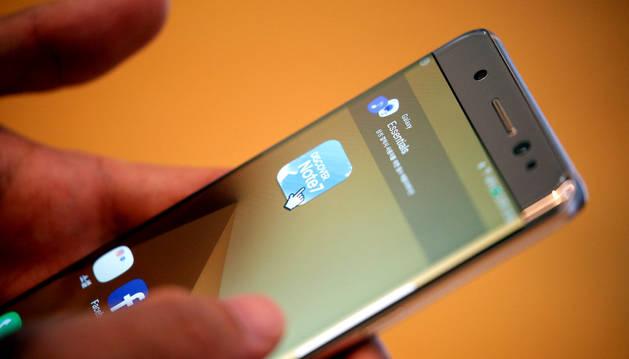Un ejemplar del Samsung Galaxy Note 7.