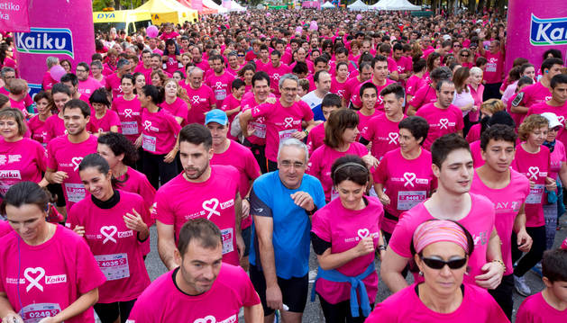 La carrera solidaria de Saray en 2015.