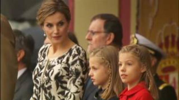 La familia real, en el desfile de las Fuerzas Armadas