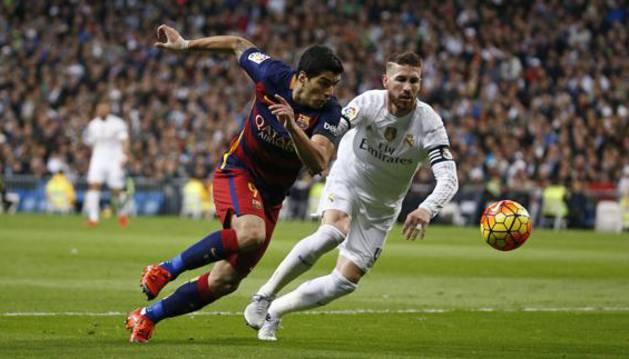 Suárez y Ramos, durante un partido.