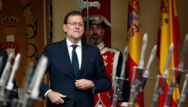 Fotografía de Rajoy, durante la celebración del Día de la Hispanidad en Madrid.