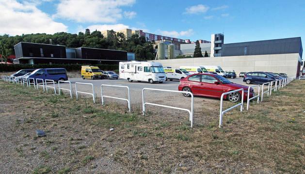 Próximo parking para autocaravanas.