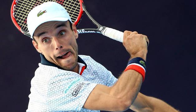 Imagen de Roberto Bautista durante un partido del Torneo de Shanghai