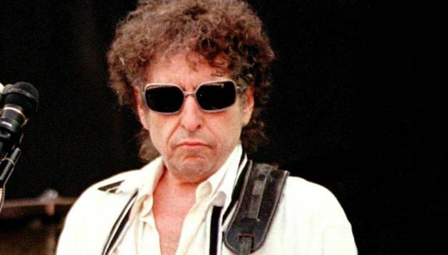 El cantautor estadounidense Bod Dylan durante un concierto.
