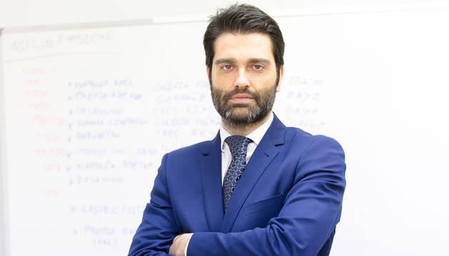foto de Jorge Labarta, director del centro de empresas de Bankia en Navarra