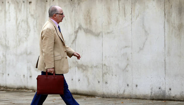 El expresidente de Caja Madrid Rodrigo Rato, en la Audiencia Nacional.
