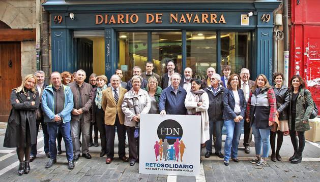 Representantes de las entidades sociales y de las empresas que participan en la segunda fase del Reto Solidario organizado por la Fundación Diario de Navarra.