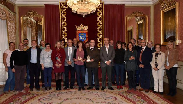 Foto de la recepción en el Ayuntamiento.