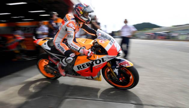 Foto del español Dani Pedrosa en el GP de Japón.