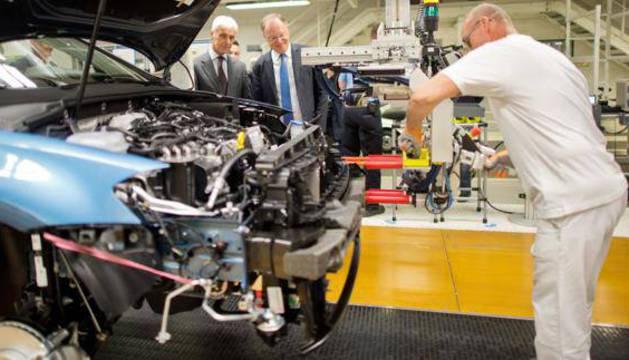 Una factoría de Volkswagen.