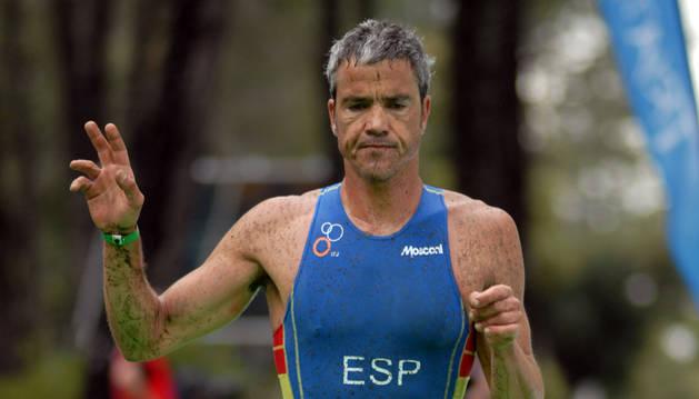 El atleta tudelano Alberto Cebollada Kremer, en una prueba anterior.