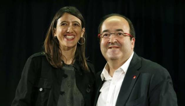 Los candidatos a la secretaría general del PSC Miquel Iceta y Núria Parlon.