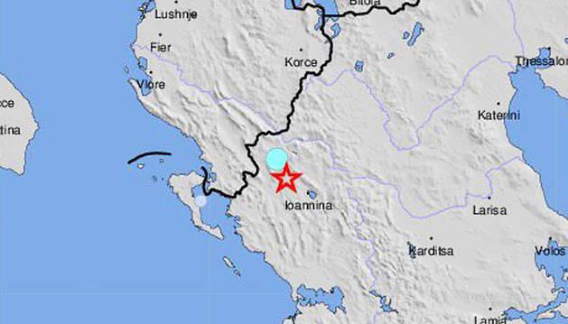 Un terremoto de 5,3 grados sacude el noroeste de Grecia