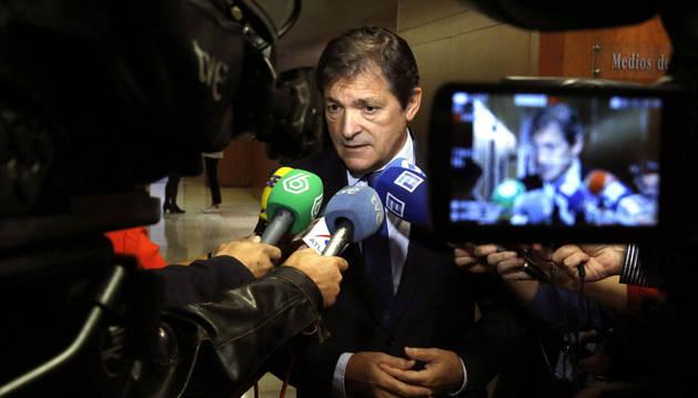 El presidente del Principado y de la gestora del PSOE, Javier Fernández.