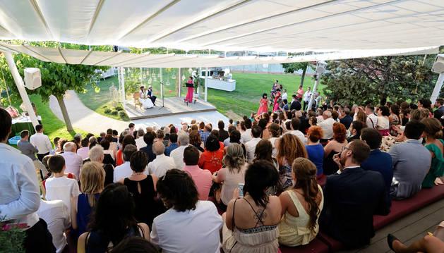Imagen del anfiteatro durante la celebración de una boda.