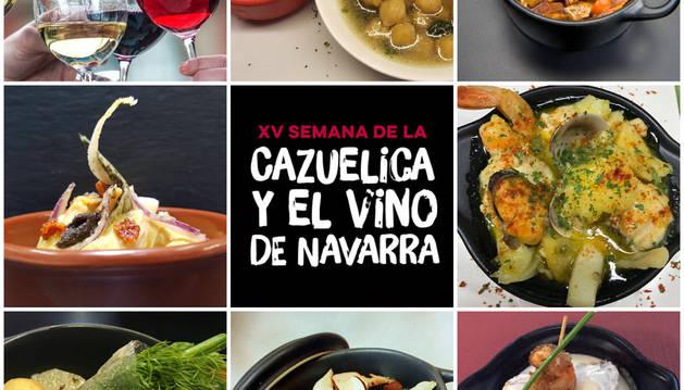 Finalistas de la XV Semana de la Cazuelica y vino de Navarra.