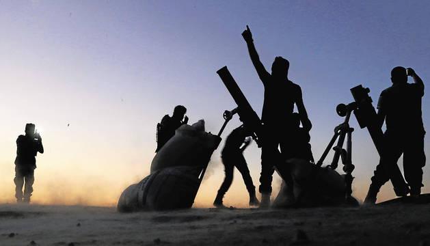 Combatientes en Alepo