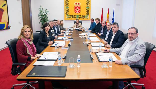 Reunión de la mesa y junta de portavoces del Parlamento.
