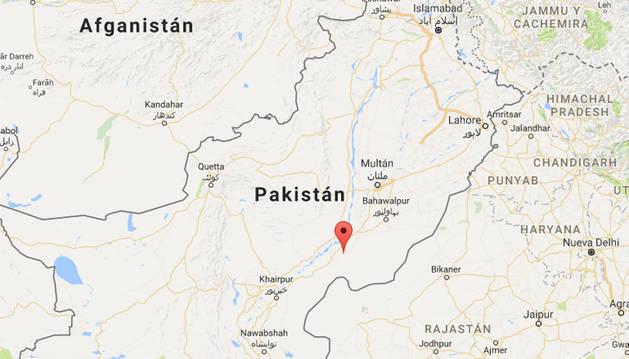 La localidad de Sahja, en la región del Punyab, se encuentra al este de Pakistán.