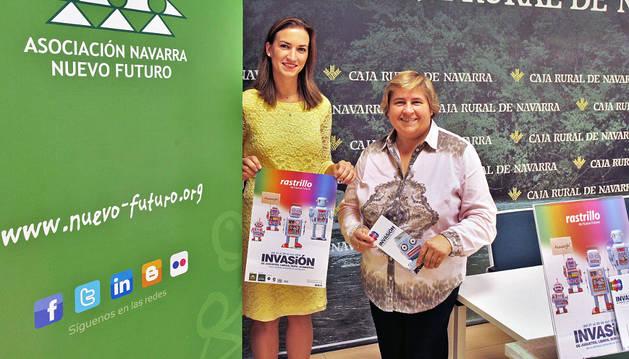 Carmen Díaz de Rada, de Marketing de Caja Rural de Navarra, y Elena Vizcay, directora de la Asociación Nuevo Futuro.