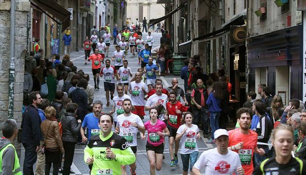 Participantes en la pasada edición del 10K del San Fermín Marathon.