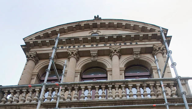 Imagen de Beaumont en el Palacio que alberga el antiguo Archivo de Navarra