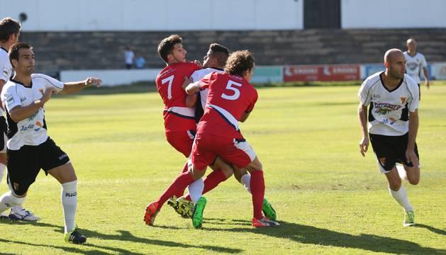 Imagen del partido de esta temporada entre Mutilvera y Tudelano