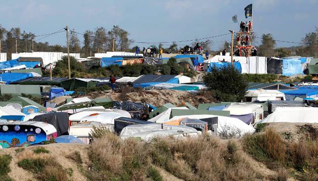 El campo de refugiados de Calais, conocido como la 'Jungla'.