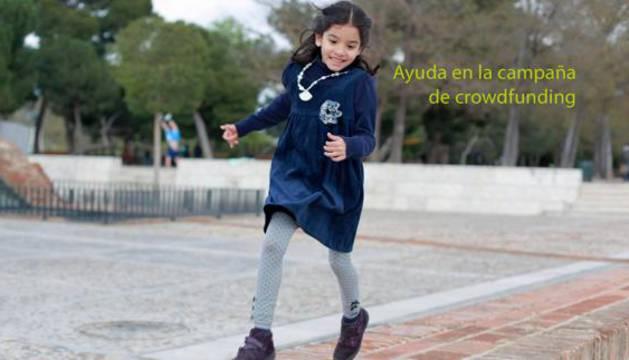 María, la niña de 11 años con sarcoma óseo.