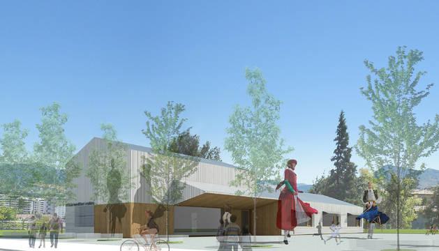 Imagen de la recreación del nuevo edificio de Mendillorri.