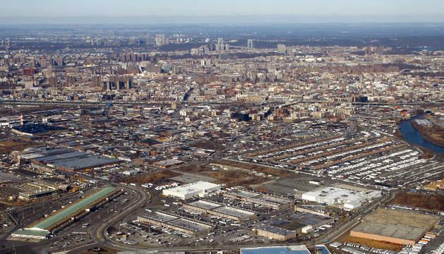 Vista aérea del barrio de El Bronx, en Nueva York.