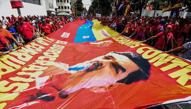 Imagen de simpatizantes de Maduro en las calles de Caracas.