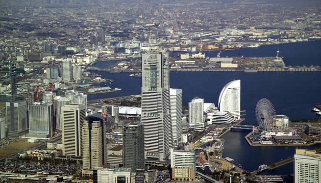 Vista aérea de la ciudad de Yokohama, en Japón.