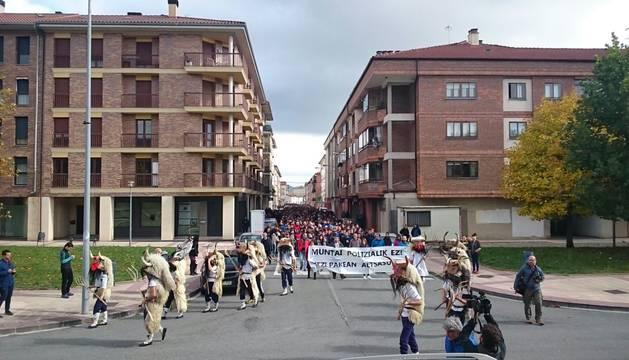 Imagen de la manifestación en Alsasua.