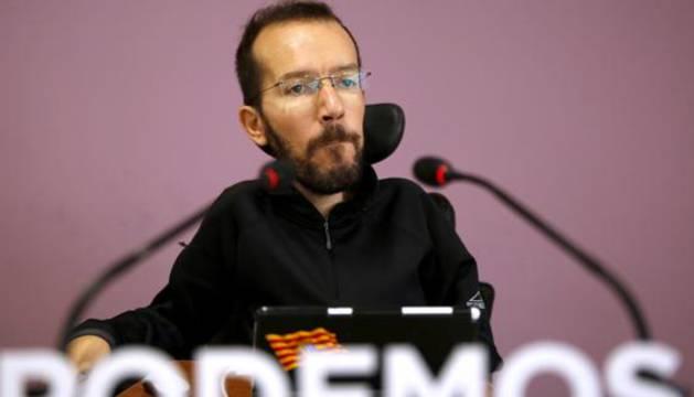 El secretario de Organización de Podemos, Pablo Echenique.