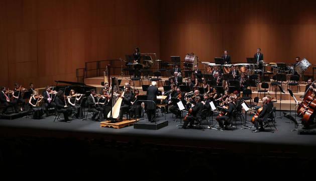 La Orquesta Sinfónica de Navarra, uno de los destinos principales de los presupuestos culturales del Gobierno de Navarra, en un concierto el 14 de octubre en el Baluarte.