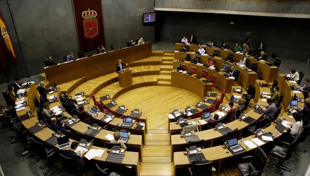Foto de un pleno del Parlamento de Navarra.