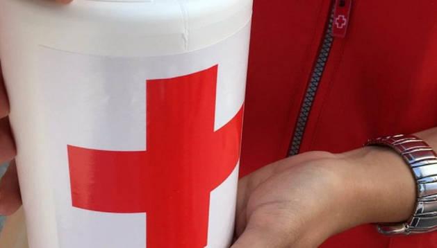 Hucha de la Cruz Roja.