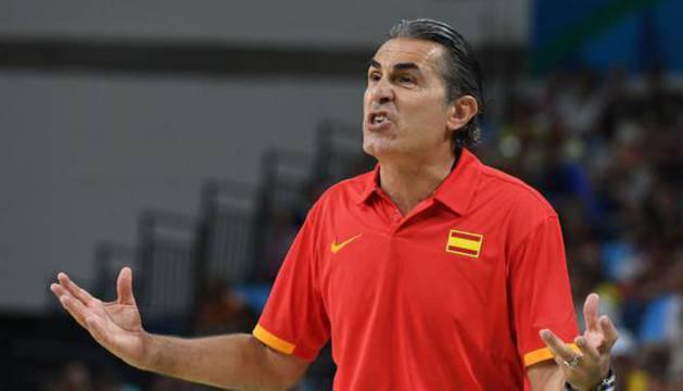 Sergio Scariolo, durante un partido.