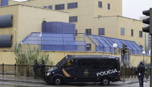 Exterior del CIE de Aluche (Madrid).