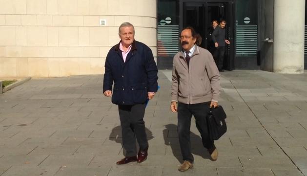 Pachi Izco a la salida de su comparecencia ante la juez Mari Paz Benito